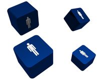 Male Cubes Stock Images