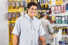 Male Customer Buying Tools At Hardware Store Royalty Free Stock Photo