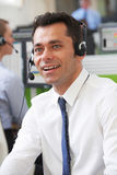 Male Customer Service Agent In Call Centre Royalty Free Stock Photography