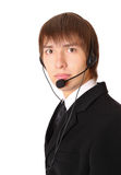 Male customer service ready to work Royalty Free Stock Photography