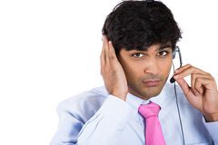 Male customer service representative or call centre worker or operator or support staff Stock Photography