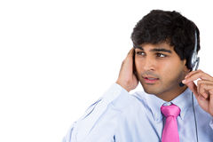 Male customer service representative or call centre worker or operator or support staff Royalty Free Stock Images