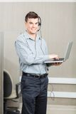 Male Customer Service Representative With Laptop Royalty Free Stock Photo