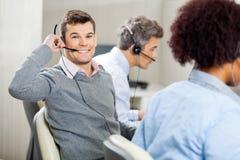 Male Customer Service Representative Using Headset Stock Image
