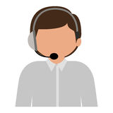 male customer service silhouette icon Royalty Free Stock Image