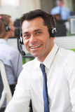 Male Customer Services Agent In Call Centre royalty free stock photography
