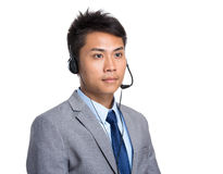 Male customer services operator Stock Photography