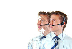 Male customer support service Stock Photo