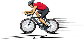 Male Cyclist Color Royalty Free Stock Photo