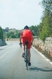 Male cyklist Royaltyfria Foton