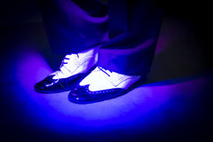 Male dancer dancing shoes Royalty Free Stock Image