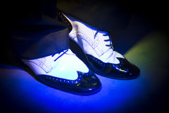 Male dancer dancing shoes Stock Image