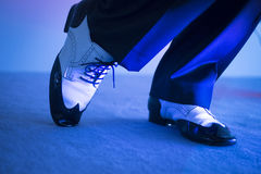 Male dancer dancing shoes Royalty Free Stock Photo