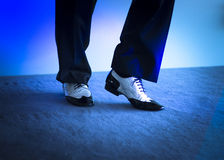 Male dancer dancing shoes Stock Photo