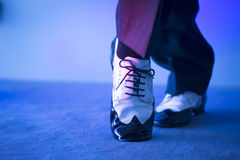 Male dancer dancing shoes Stock Images