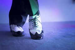 Male dancer dancing shoes Royalty Free Stock Images