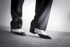 Male dancer dancing shoes Stock Photos