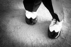 Male dancer dancing shoes Stock Photography