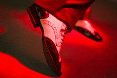 Male dancer dancing shoes Royalty Free Stock Photos