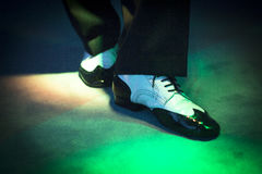 Male dancer dancing shoes Royalty Free Stock Photography