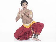 Male dancer from india Royalty Free Stock Image