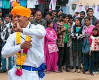 male dancer, India Royalty Free Stock Photos