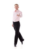 Male dancer. The invitation to dance. Stock Photos