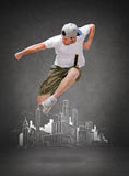 Male dancer jumping in the air Stock Image
