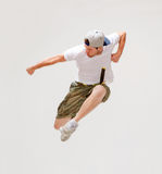 Male dancer jumping in the air Royalty Free Stock Photos