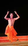 Male Dancer in Monk's costume royalty free stock image