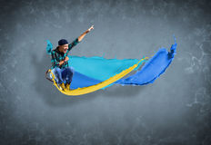 Male dancer with splashes of paint Royalty Free Stock Photo