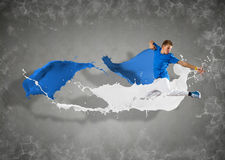 Male dancer with splashes of paint Stock Photo