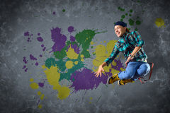 Male dancer with splashes of paint Stock Image