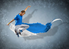 Male dancer with splashes of paint Royalty Free Stock Photography