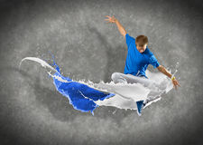 Male dancer with splashes of paint Stock Photos