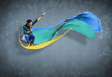 Male dancer with splashes of paint Royalty Free Stock Photos