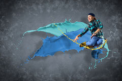 Male dancer with splashes of paint Stock Photography