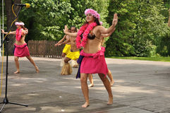 Male dancers from Chile, Rapa Nui Stock Photography