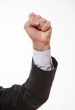 Male demonstrating a confrontation. Boss  demonstrating a confrontation, white background Royalty Free Stock Photos