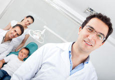 Male dentist Stock Image