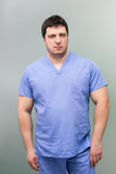 Male dentist doctor with  uniform Royalty Free Stock Image