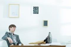 Male designer taking break stock photography