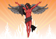 Male devil vector illustration Stock Photography