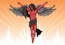 Male devil vector illustration Stock Photography