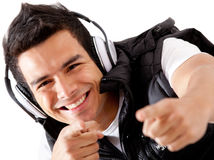 Male DJ Royalty Free Stock Photo
