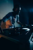 Male dj in club Royalty Free Stock Images