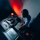 Male dj in club Stock Images