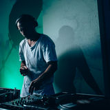 Male dj in club Stock Photos