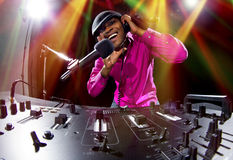 Male DJ Royalty Free Stock Images