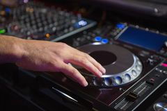 Male DJ playing music Royalty Free Stock Photography